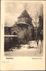 Postcard Regensburg an der Donau Oberpfalz, Partie am Emmeramer Tor