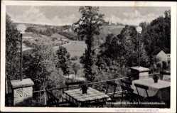 Ansichtskarte / Postkarte Tanneberg Triebischthal Klipphausen, Triebischtalbaude, Terrassenblick