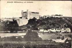 Postcard Eichstätt, Blick auf die Willibaldsburg mit Hofmühle, Häuser