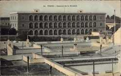 Ak Tunis Tunesien, Caserne de la Kasbah, Blick auf die Kaserne