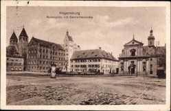 Postcard Regensburg an der Donau Oberpfalz, Moltkeplatz mit Carmelitenkirche