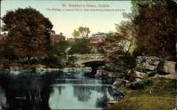 Postcard Dublin Irland, St. Stephen's Green, The Bridge, Pleasure Ground