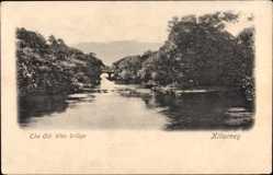 Postcard Killarney Irland, The Old Weir bridge, Alte Wehrbrücke