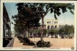 Ak Casablanca Marokko, Caserne du 1e Zouaves, Le Bâtiment principal