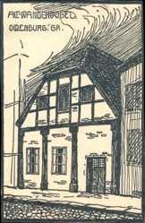 Steindruck Ak Oldenburg in Niedersachsen, Fachwerkhaus, Alt Wandervogel