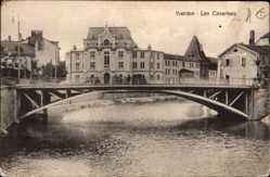 Ak Yverdon les Bains Kt. Waadt Schweiz, Les Casernes, Brücke