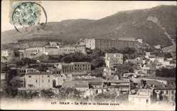 Ak Oran Algerien, La Ville et la Caserne neuve, Blick auf den Ort, Kaserne