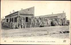 Ak Timgad Algerien, Ruines Romaines, Agence des Travaux et Musee