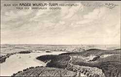 Künstler Ak Berbig, W., Berlin Wilmersdorf Grunewald, Blick nach Spandau