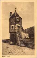 Postcard Zons Dormagen Niederrhein, Pfefferbüchse auf der Stadtmauer