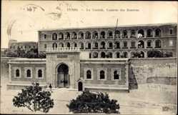 Ak Tunis Tunesien, La Casbah, Caserne des Zouaves, Kaserne