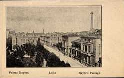 Postcard Lodz Lodsch Polen, Passaz Mayera, Mayers Passage, Schornstein