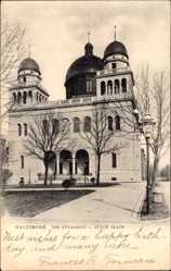 Postcard Baltimore Maryland USA, The Synagogue, Eutaw Place, Synagoge, Tuck
