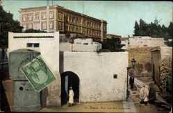 Ak Tunis Tunesien, Vue sur les Casernes, Blick auf die Kaserne, Araber