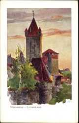 Künstler Ak Kley, Heinrich, Nürnberg in Mittelfranken, Luginsland, Burg