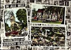 Briefmarken Ak Bergisch Gladbach in Nordrhein Westfalen, Rathaus, St. Laurentius