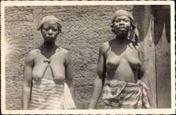 Foto Ak Femmes Soudanaises, Sudanesische Frauen, Barbusig