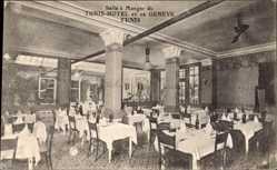 Postcard Tunis Tunesien, Hotel et de Genève, Salle à Manger