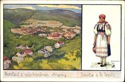 Künstler Ak Trenčianske Teplice Trentschin Teplitz Slowakei, Tracht, Ort
