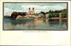 Künstler Litho Biese, C., Friedrichshafen am Bodensee, Blick auf das Schloss