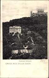 Postcard Coburg in Oberfranken, Pensionat Gebhardt mit Villa Eden