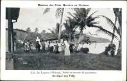 Ansichtskarte / Postkarte Fidschi, Archipel, Missions des Pères Maristes, Lépreux Makogai, Soeurs