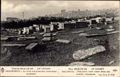 Postcard Saloniki Griechenland, La ville vue prise des cimetieres israelites