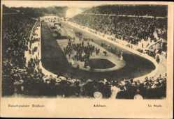 Postcard Athen Griechenland, Le Stade, Blick in das Stadion, Zuschauer
