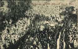 Postcard Enterrement de S. A. Mohamed Bey de Tunis, Begräbniszeremonie