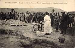 Ak Foum Tatahouine, Chapelle de N.- D. des Victoires, Pose de la premiere pierre