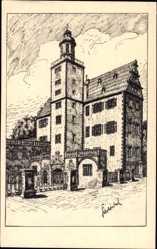 Künstler Ak Winkel, Karl, Darmstadt in Hessen, Altes Schloss, Glockenturm No 7
