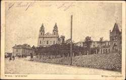 Postcard Vilnius Wilna Litauen, Snipischki, Snipiszki, Kirche