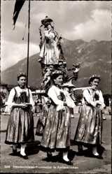 Ak Garmisch Partenkirchen in Oberbayern, Fronleichnamsprozession