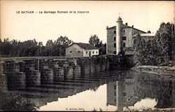 Ak Le Bathan Tunesien, Le Barrage Romain et la Caserne, Staumauer