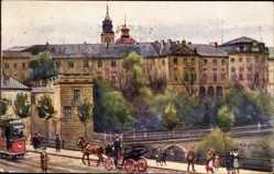 Künstler Ak Warszawa Warschau Polen, Taras Zamkowy, Schlossterrassen