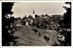 Postcard Nordhalben in Oberfranken, Blick vom Heinersberg auf die Ortschaft