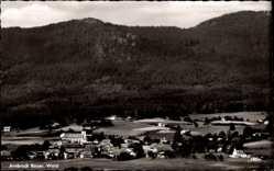 Postcard Arrach im Bayerischen Wald Oberpfalz, Gesamtansicht mit Wald