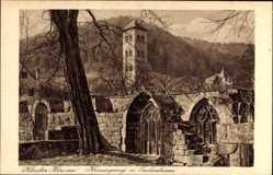 Postcard Hirsau Calw im Nordschwarzwald, Kloster Hirsau, Kreuzgang und Eulenturm