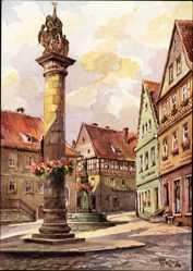Künstler Ak Freytag, C., Kronach im Frankenwald Bayern, Melchior Otto Platz