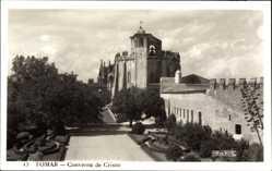 Postcard Tomar Portugal, Convento de Cristo, Konvent, Gartenanlagen