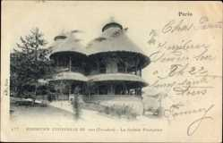Cp Paris, Weltausstellung 1900, La Guinée Francaise, Exposition Universelle