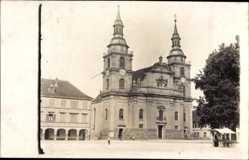 Foto Ak Ludwigsburg in Baden Württemberg, Blick auf die Marktkirche