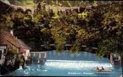 Postcard Blaubeuren Baden Württemberg, Blautopf, Wehr, Wassermühle