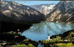 Postcard Slowenien, Der Wocheiner See, Bohinjsko jezero