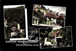 Postcard Weihersmühle Weismain Oberfranken, Gasthof Pension Forelle