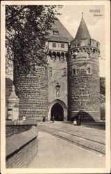 Postcard Neuss in Nordrhein Westfalen, Straßenpartie am Obertor