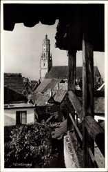 Postcard Nördlingen im Nördlinger Ries Schwaben, Blick über Dächer auf Turm Daniel