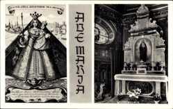 Ak Kevelaer am Niederrhein, Ave Maria, Gnadenkapelle, Gnadenbild
