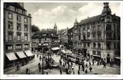 Postcard Pforzheim im Schwarzwald Baden Württemberg, Blick auf den Leopoldsplatz