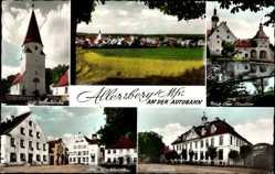 Postcard Allersberg im Kreis Roth Mittelfranken, Alte Wehrkirche, Stadttor, Marktplatz